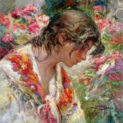 """Perfil"" Original Oil/Canvas by Royo"