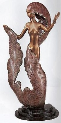 """Folies Bergere"" Bronze Sculpture by Erte"