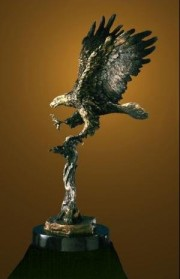 """Centennial"" Bronze Eagle Sculpture by Laran Ghiglieri"