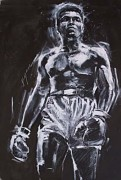 """The Greatest (Ali)"" Monoprint by Michael Bryan"
