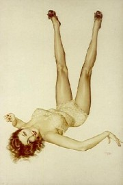 """Vargas Legacy Girl"" Deluxe Lithograph/Opalesque by Alberto Vargas"