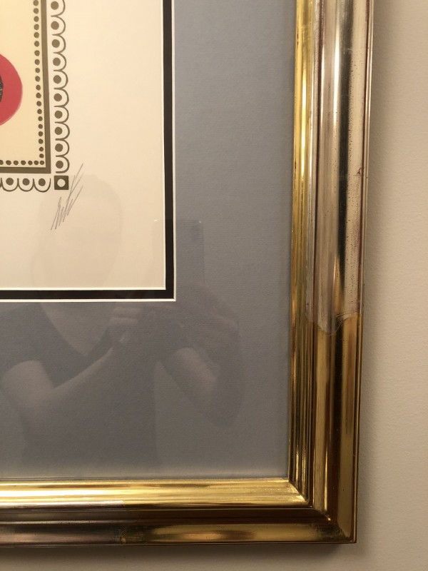 """Black Magic"" Framed Lithograph by Erte"
