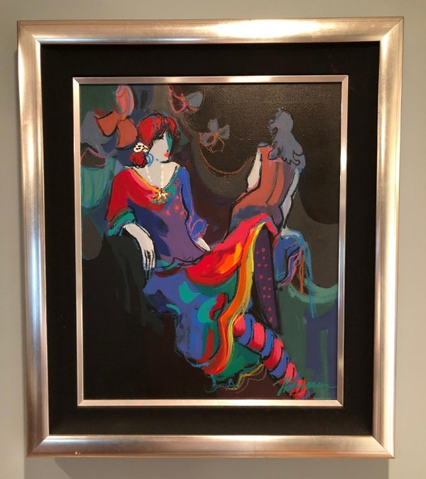 """Brigitte"" original acrylic on canvas framed from the Isaac Maimon ""Brigitte and Noelle Suite"""