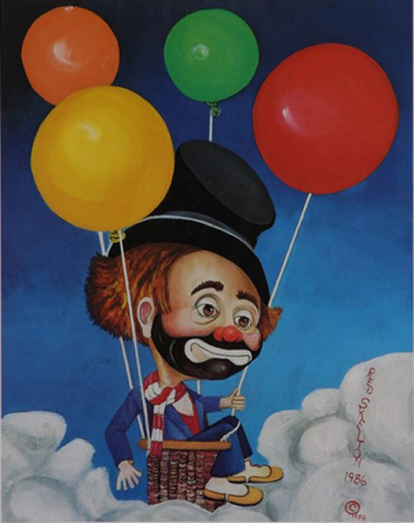 """""""Up, Up and Away"""" Serigraph by Red Skelton"""