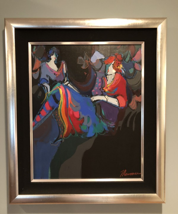 """Noelle"" original acrylic on canvas framed from the Isaac Maimon ""Brigitte and Noelle Suite"""
