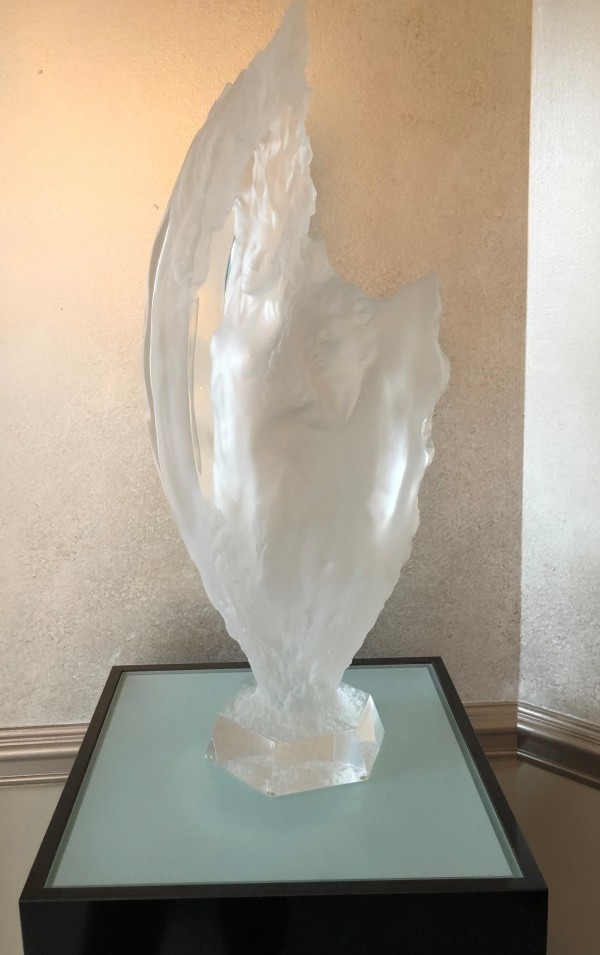 """Study of Prometheus"" Acrylic Sculpture by Michael Wilkinson"