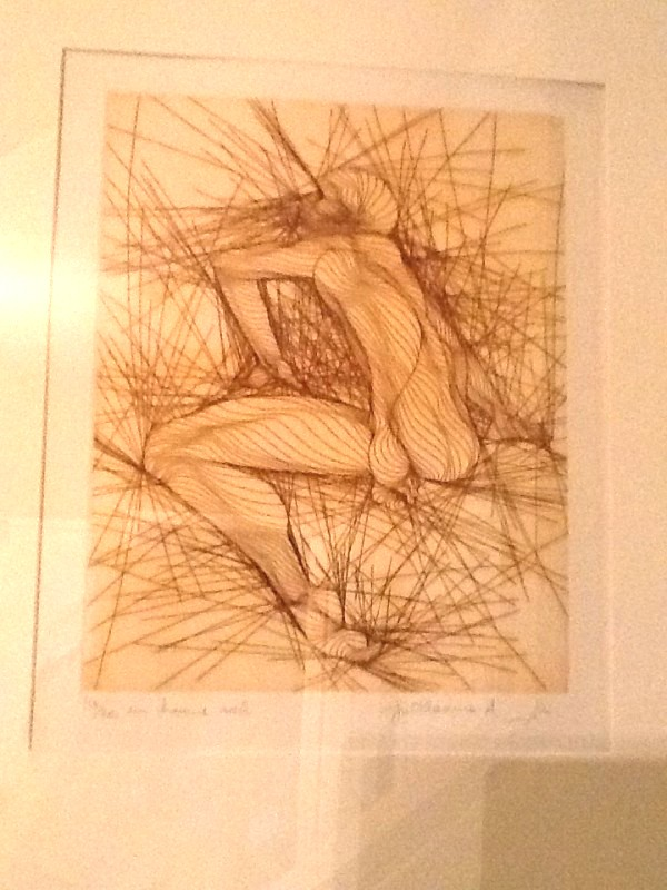 "GUILLAUME AZOULAY ""Um Homme Assis"" etching"