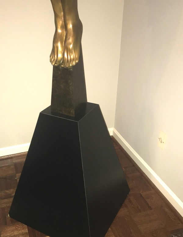 "Pedestal for ""Christ Rising"" Bronze Sculpture by Frederick Hart"