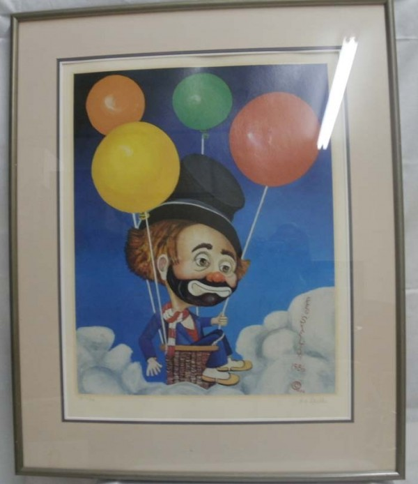"""""""Up, Up and Away"""" Framed Lithograph by Red Skelton"""