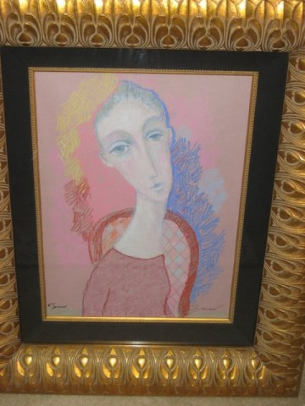 """Refelction"" Original pastel on paper by Sergey Smirnov"