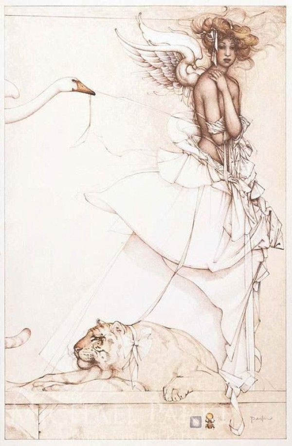 """Summer Memories"" Stone Lithograph by Michael Parkes"