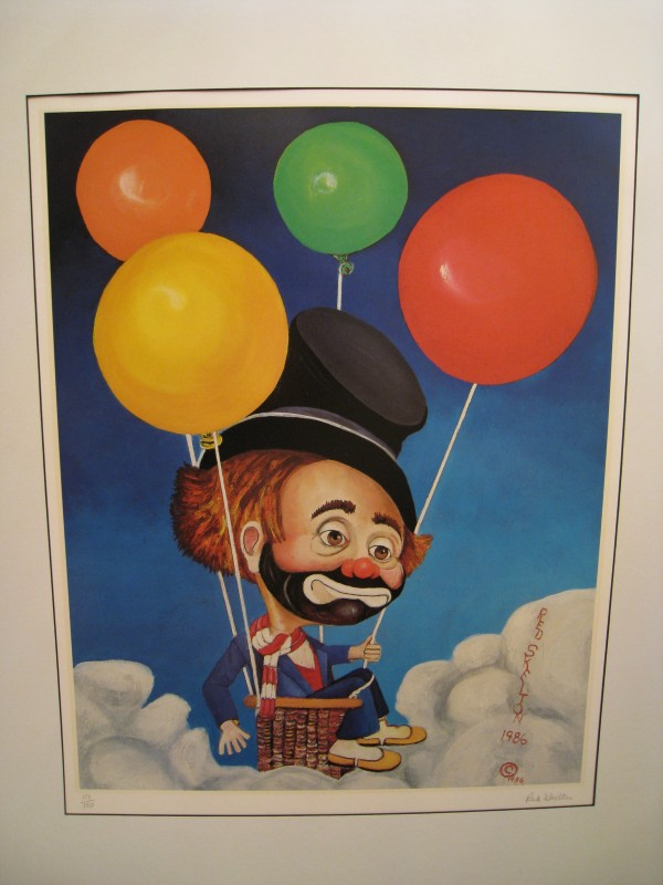 """""""Up, Up and Away"""" Matted Serigraph by Red Skelton"""