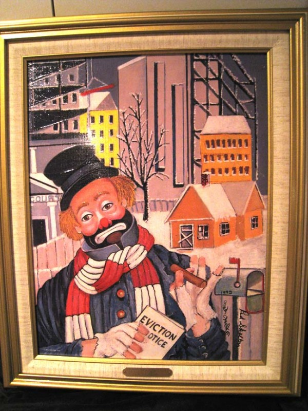 """Love Thy Neighbor"" Framed Serigraph/Canvas by Red Skelton"