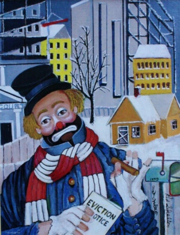 """Love Thy Neighbor"" Serigraph/Canvas by Red Skelton"