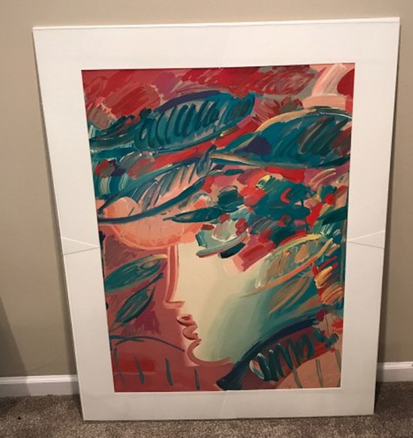 """Beauty"" unframed Serigraph/Arches Paper by Peter Max from the Beauty and the Fauve Suite"