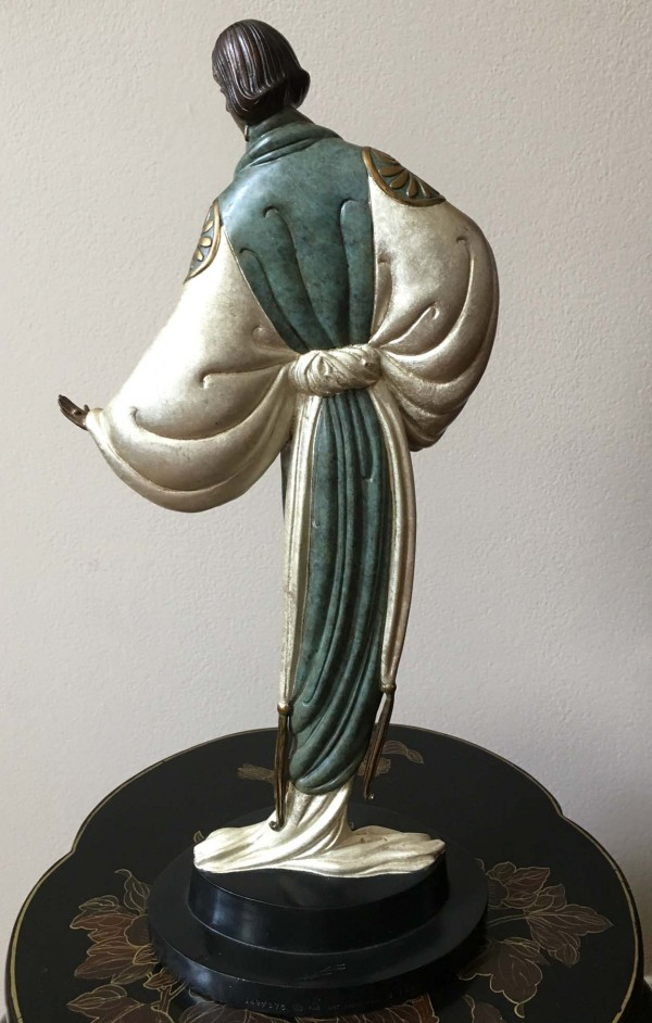 """Belle du Nuit"" bronze sculpture by Erte"
