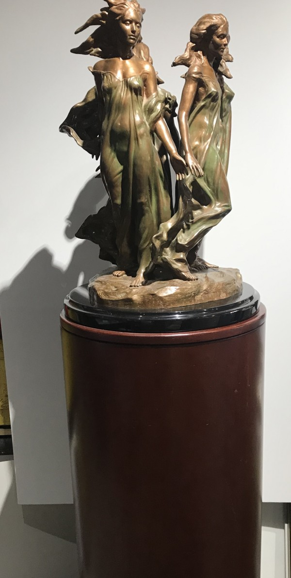 """Frederick Hart """"Daughters of Odessa 1/3 Life Size on 44"""" round motorized pedestal"""