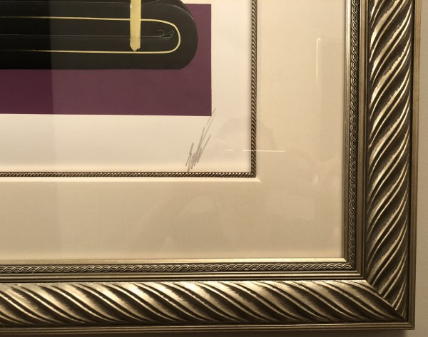 The Salon embossed serigraph with foil stamping by Erte