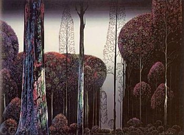 """Gothic Forest"" Serigraph by Eyvind Earle"