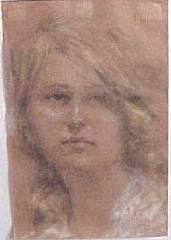 Original Pastel on paper Untitled Portraits by William Henry Clapp