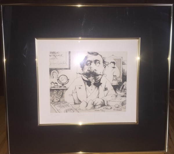 """Plastic Surgeon"" Limited Edition Etching by Charles Bragg"
