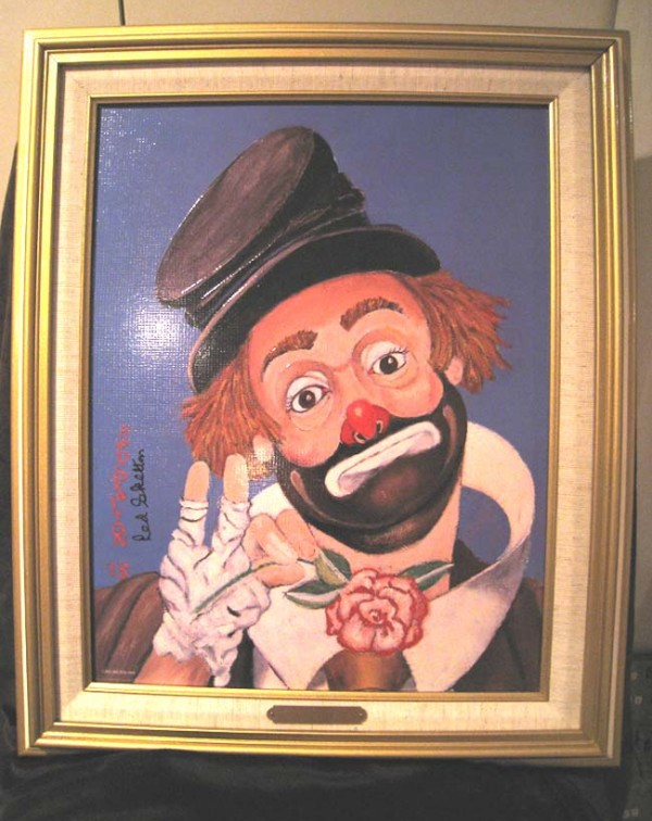 """No Place to Go"" Framed Serigraph/Canvas by Red Skelton"