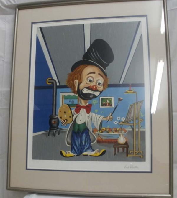 """Freddie's Studio"" Framed Serigraph by Red Skelton"