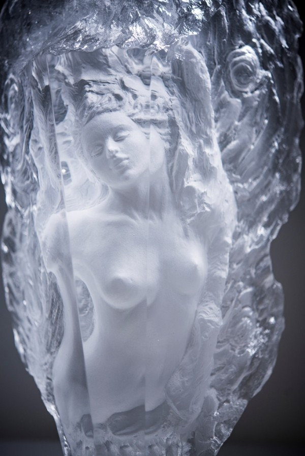 """Purity"" Acrylic Sculpture by Ira Reines"