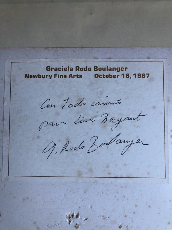 """Tennis"" Etching dedication by Graciela Rodo Boulanger"