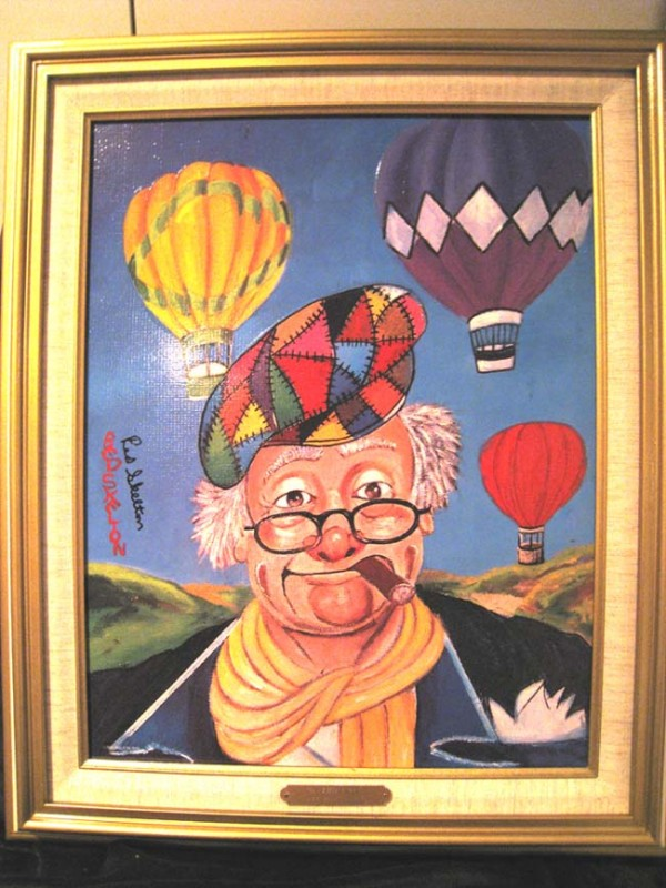 """Up and Away"" Framed Serigraph/Canvas by Red Skelton"