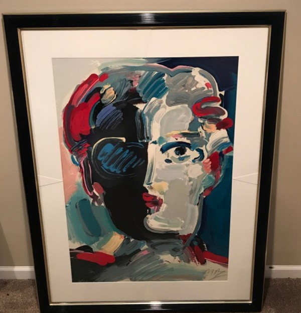 """The Fauve"" framed Serigraph/Arches Paper by Peter Max from the Beauty and the Fauve Suite"
