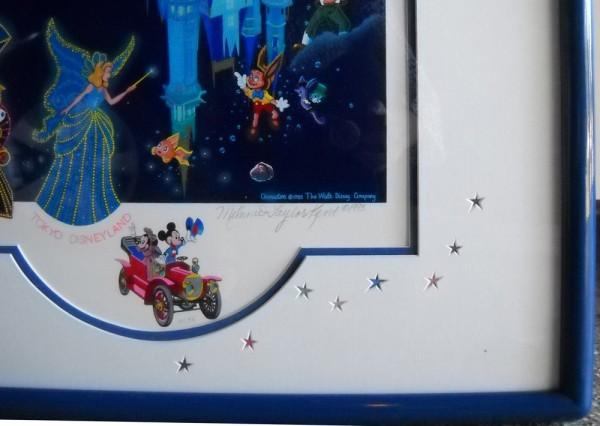 """Tokyo Disneyland 10th Anniversary"" Original 3"" x 3""  Remarque by Melanie Taylor Kent"