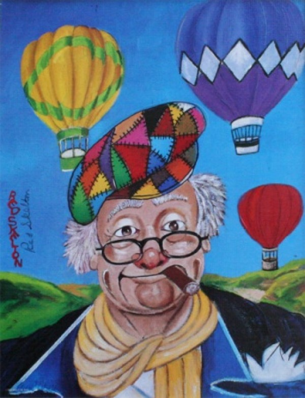 """Up and Away"" Serigraph/Canvas by Red Skelton"