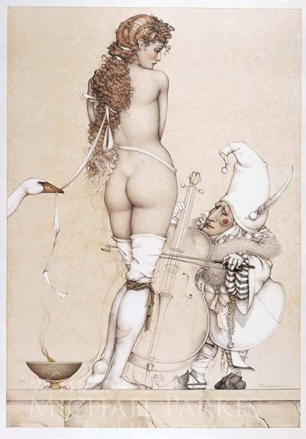 """""""Music Master"""" Stone Lithograph by Michael Parkes"""