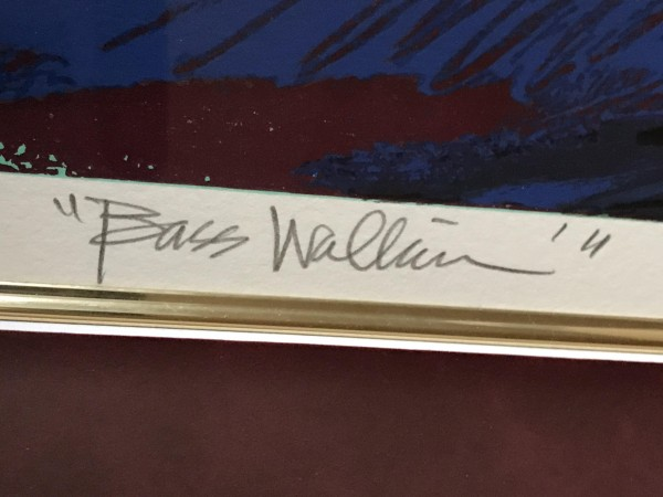 """Bass Walkin"" serigraph by Verna Hart"