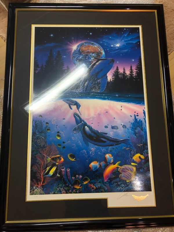 """Whale Star"" AP Mixed Media Graphic by Christian Riese Lassen"
