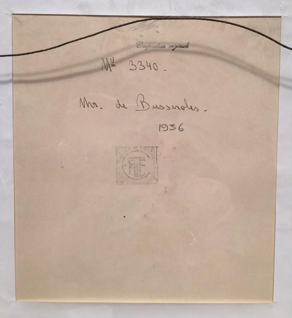 """""""Monsieur de Busseroles"""" 1936 Back of Original Gouache by Erte"""