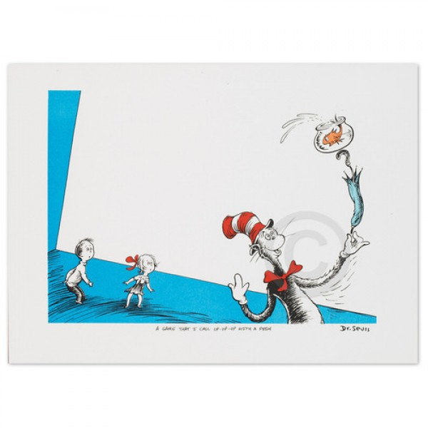 The Cat in the Hat � Up-Up-with a Fish! from the Illustration Portfolio I by Dr. Seuss