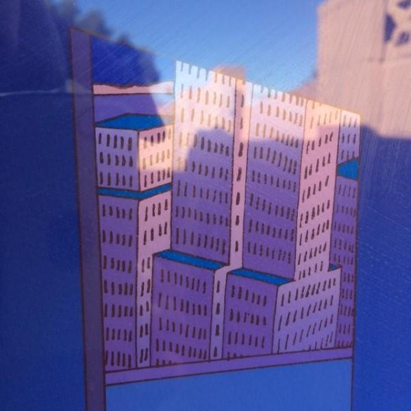 """""""New York"""" Lithograph by Jean Michel Folon"""
