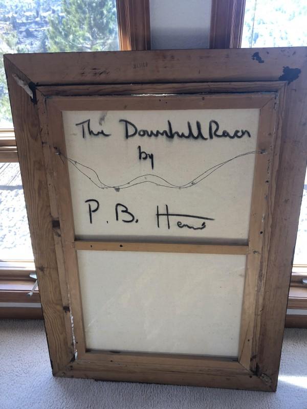 """The Downhill Racer"" Original Oil on Canvas by Paul Blaine Henrie"