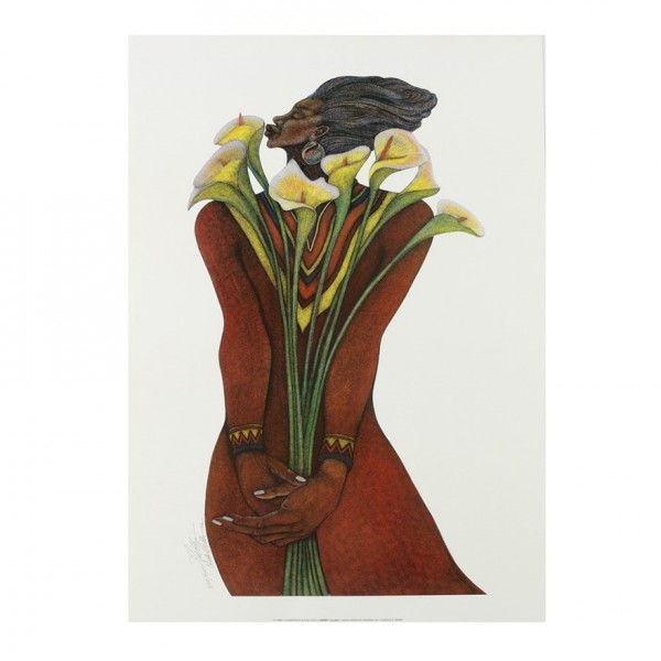 """""""Sweet Lilies"""" LithogreaphSerigraph by Charles Biggs"""
