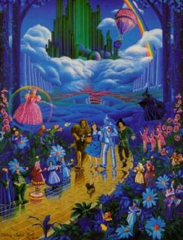 """Wizard of Oz"" Serigraph by Melanie Taylor Kent"