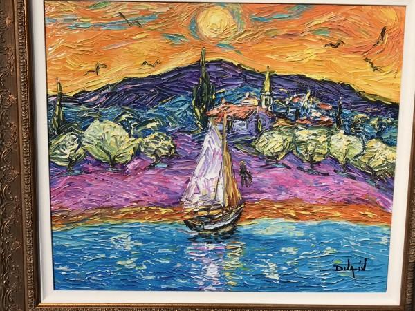 """Pop Van Gogh"" Giclee on Canvas by Duaiv"
