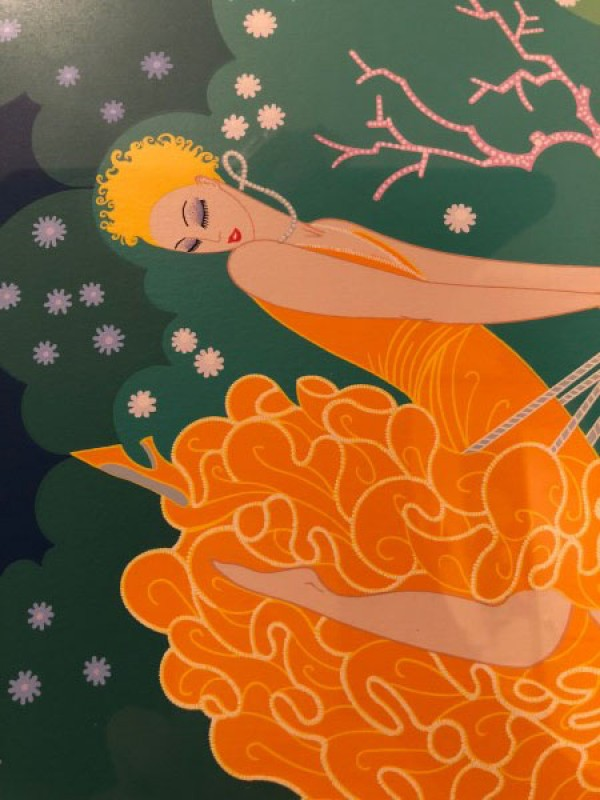 """The Swing"" Serigraph on Paper by Erte"
