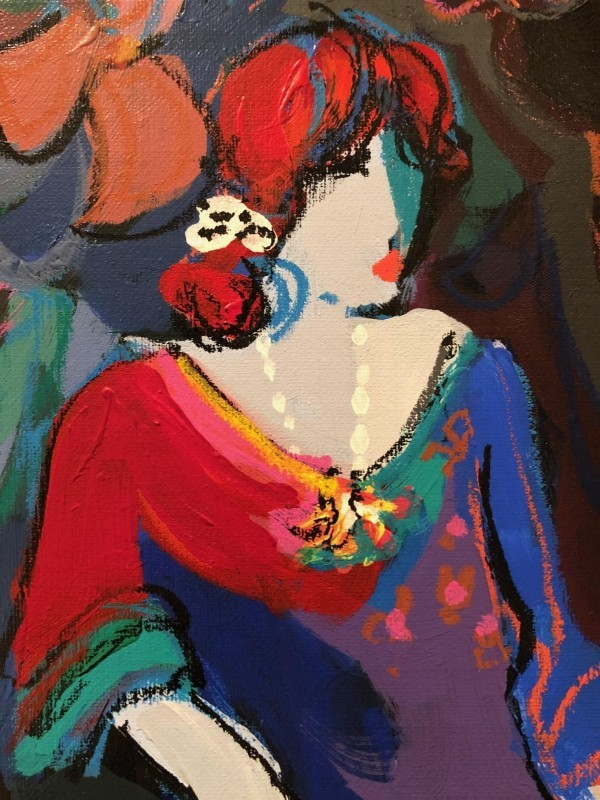 "Brigitte from the Original Acrylic on Canvas Isaac Maimon Suite ""Brigitte and Noelle"