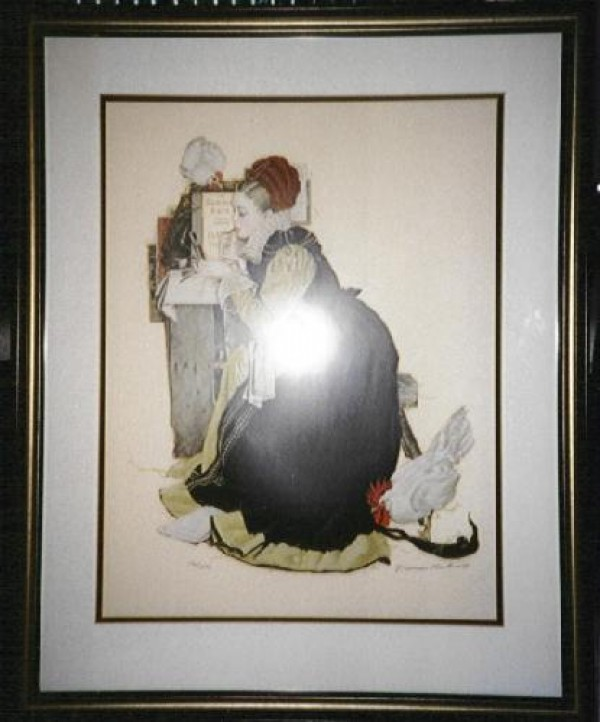"""Summer Stock"" Framed Lithograph by Norman Rockwell"