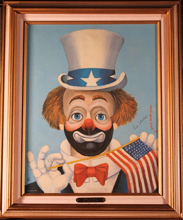 """""""The Pledge"""" double-signed Serigraph on Canvas by Red Skelton"""