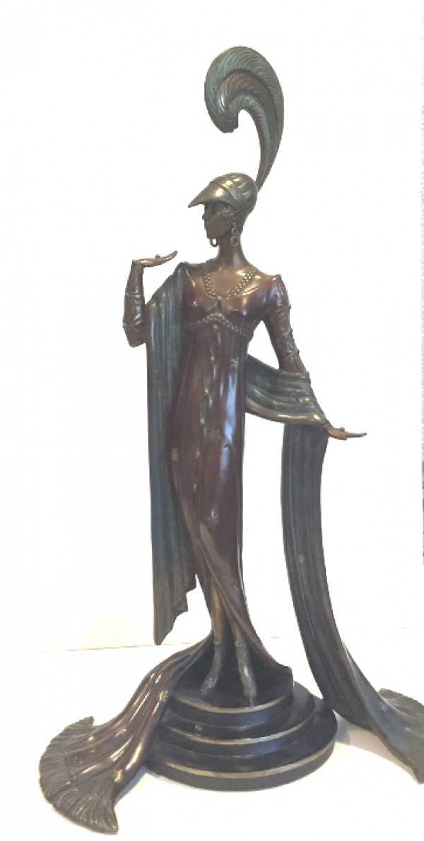 """Directoire"" Bronze Sculpture by Erte"