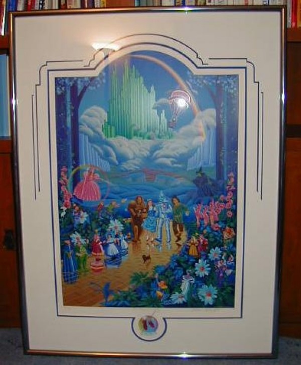 """Wizard of Oz"" Framed Serigraph with Remarque by Melanie Taylor Kent"