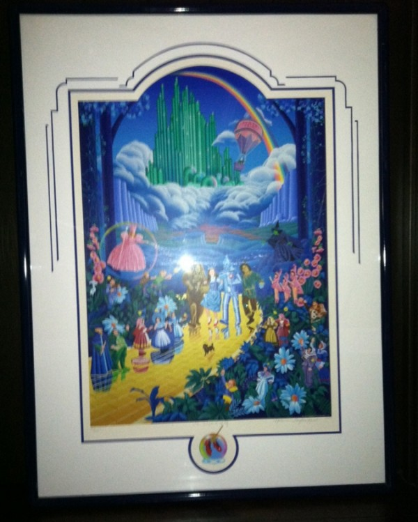 """""""Wizard of Oz"""" Framed Serigraph with Remarque by Melanie Taylor Kent"""